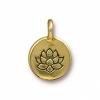 Charm Lotus Antique Gold